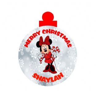 Minnie Mouse Acrylic Christmas Ornament Decoration